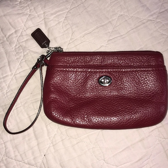 Coach Handbags - Coach Wristlet, burgundy